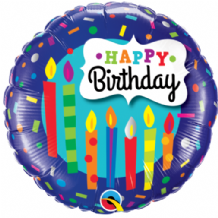 "Birthday Candles & Confetti Foil Balloon (18"") 1pc"